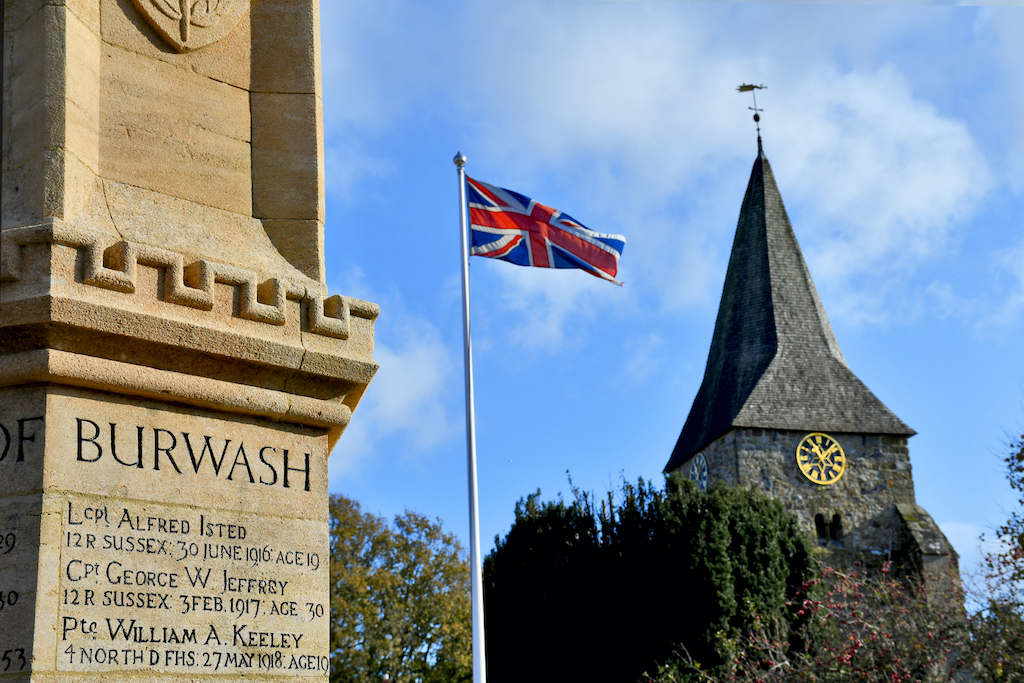 Remembrance day flag