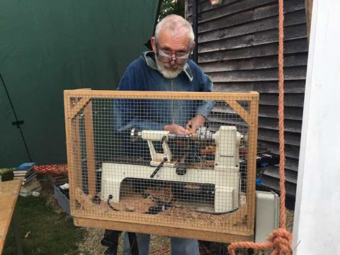 Image man doing woodwork