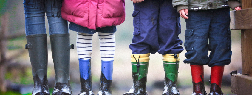 Image of children with wellies