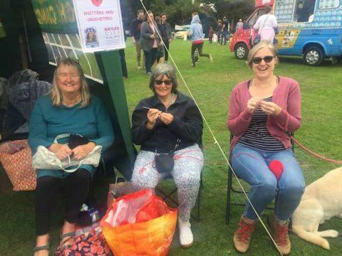 Image 3 ladies knitting
